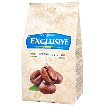 Кофе Primo Exclusive Crema gusto в зернах 500г - купить, цены на Ашан - фото 1