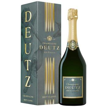 Шампанское Deutz Brut Classic белое сухое 12% 0,75л - купить, цены на СитиМаркет - фото 1