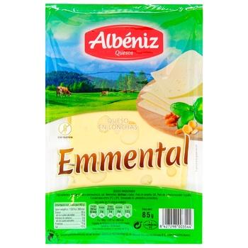 Сыр Albeniz Эмменталь нарезной 45% 85г - купить, цены на МегаМаркет - фото 1