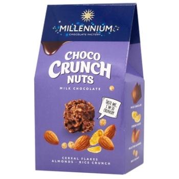 Конфеты Millennium Choco Crunch миндаль 100г - купить, цены на Ашан - фото 1
