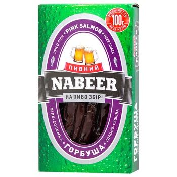 Горбуша Пивний Nabeer філе-соломка солоно-сушена 100г