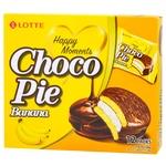 Печенье бисквитное Lotte Choco Pie Банан прослоенное глазированное 12*28г 336г