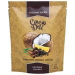 Чипсы кокосовые Coco Deli сладкие с апельсином, корицей и кофе 30г