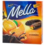 Мармелад Mella з соком апельсину в чорному шоколаді 190г