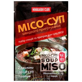Набір спецій для місо-супу Hokkaido Club швидкого приготування 18г