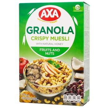 Мюсли Axa с фруктами и орехами 270г - купить, цены на Восторг - фото 1
