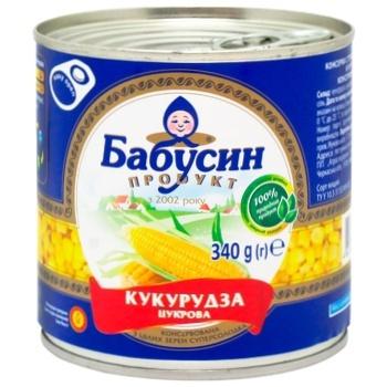 Кукуруза сахарная Бабушкин продукт консервированная 340г