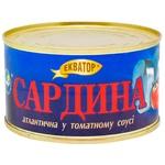 Сардина Экватор атлантическая в томатном соусе 240г