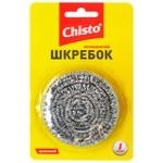 Скребок Chisto нержавіючий металевий спіральний