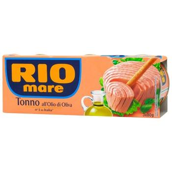 Тунец Rio Mare в оливковом масле ж/б 3шт 80г