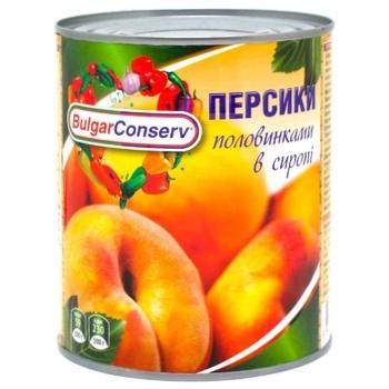 BulgarConserv Peach Halves in Syrup 850ml
