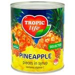 Tropic Life In Syrop Pineapple Pieces 850ml