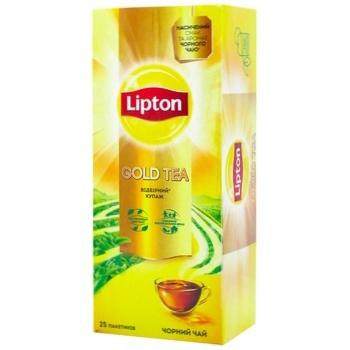 Lipton Gold Black tea 25pcs*2g - buy, prices for CityMarket - photo 1