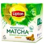 Чай Ліптон Магніфісент Матча зелений з імбиром 18х1.5г - купити, ціни на Ашан - фото 1