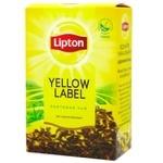 Чай черный Lipton Yellow Label байховый 80г