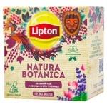 Чай зеленый байховый Lipton Natura Botanica с лавандой, мятой и лепестками роз  в пакетиках 20х1.8г