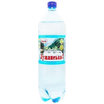 Вода Лужанская №7 газированная 1,5л - купить, цены на Ашан - фото 1