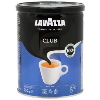 Кофе Лаваза Клаб 100% арабика натуральный жареный молотый 250г Италия - купить, цены на Varus - фото 1