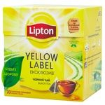 Чай черный Lipton Yellow Label Эксклюзив в пирамидках 20шт*1,8г