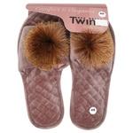 Twins Women's Home Slippers s.40 beige pompom