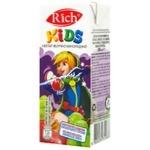 Нектар Rich Kids яблучно-виноградний освітлений купажований 0,2л