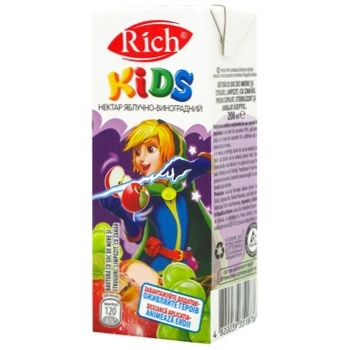 Rich Kids Nectar Apple-grape Clarified Blended 0,2l - buy, prices for CityMarket - photo 1