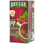 Чай Беседа черный с ароматом малины 24пак*1,5г