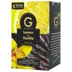 Чай зелений G'tea! Gourmet лимон та ваніль в пакетиках 20шт*1,75г