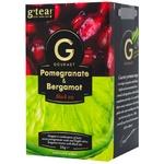 G'tea! Gourmet black tea pomegranate and bergamot in teabags 20pcs*1,75g