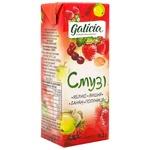 Сік Galicia Смузі яблуко-вишня-банан-полуниця 0,2л