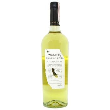 Вино 770 Miles Шардоне белое сухое 12,5% 750мл - купить, цены на Космос - фото 1
