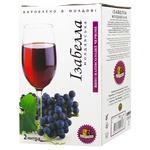 Вино Alianta Vin Изабелла Молдавскаz красное полусладкое 13% 2л