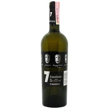 Вино 7 Emotions Traminer біле напівсолодке 9-13% 0,75л