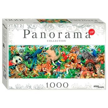 Step Puzzle Panorama World of Animals Puzzles 1000 Items