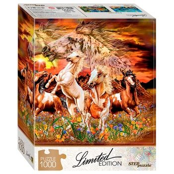 Step Puzzles Limited Edition Find 16 horses 1000 el.