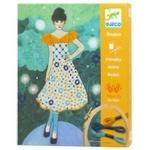 Комплект художественный для вышивки Djeco Вечерняя мода
