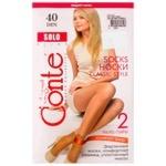 Шкарпетки  жіночі Conte Elegant Solo Natural 40 Den 2 пари розмір 23-25