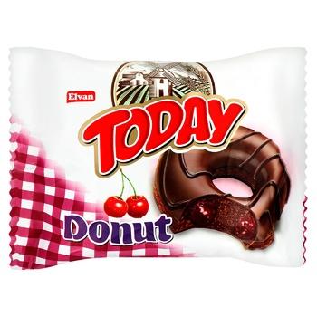 Donut Elvan cherry in chocolate glaze 50g - buy, prices for MegaMarket - photo 1