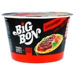 Лапша Bigbon говядина + соус с базиликом 85г