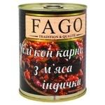 М'ясо індички Fago з квасолею 340г