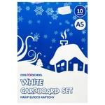 Набір білого картону Cool for School білий 10 аркушів 21001
