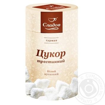 Сахар Сладов тростниковый кусковой белый 500г