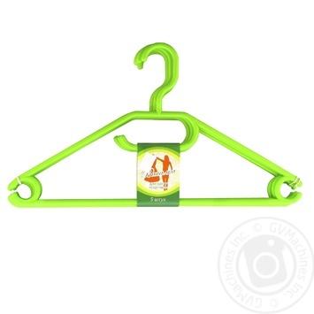 Вішалка для одягу 5шт колір в асортименті - купити, ціни на МегаМаркет - фото 1