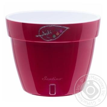 Santino Asti Red-White Flowerpot 12l