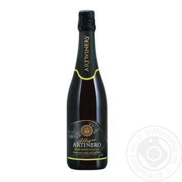 Artwine White Semi Sweet Muskat Sparkling Wine 10-13.5% 0.75l