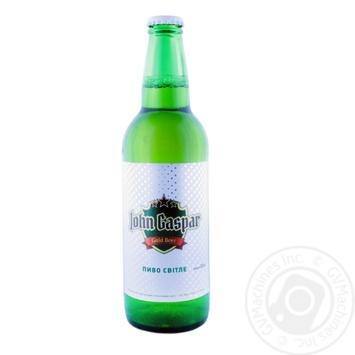 Пиво John Gaspar світле 3.4% 0,5л - купити, ціни на CітіМаркет - фото 1