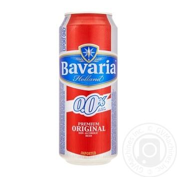 Пиво Баварія світле безалкогольне залізна банка 500мл Нідерланди