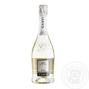 Вино игристое Canti Asti Secco белое сухое 7% 0,75л - купить, цены на СитиМаркет - фото 1