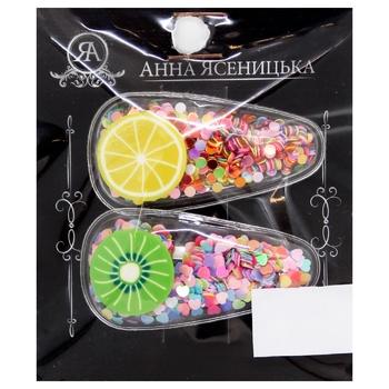 Набір шпильок для волосся Анна Ясеницька Чудова веселка в асортименті