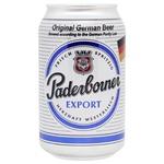 Пиво Paderborner Export світле з/б 5,5% 0,33л